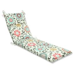 Pillow Perfect Outdoor Pom Pom Play Peachtini Chaise Lounge Cushion * Find out more by clicking the image
