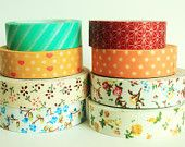 Choose Any 2 Washi Tapes and 2 Fabric Tapes at 10% off