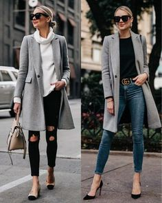 Sharing A TON of winter outfit ideas today on Fashion Jackson! My grey coat is from Zara a few years ago, so I linked similar styles 🖤… Winter Coat Outfits, Spring Outfits Women, Winter Fashion Outfits, Trendy Outfits, Winter Outfits, Fashion Ideas, Fashion Styles, Street Style, Fall Clothes