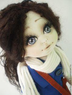 """Muñecas hechas a mano de colección.  Masters Feria - textiles hechos a mano de la muñeca """"de los estudiantes.""""  Hecho a mano."""
