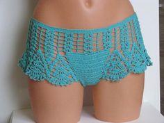 Original crochet beach short, Women Swimwear shorts, LACE Crochet Shorts, Sexy…