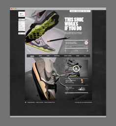 Nike Women Website | We were asked by AKQA to help with the design of Nike Women and come up with some high level concept screens. The style was in keeping with Nike's current in-shop display with the aim of this site to work similar to a look-book with large visual images that become interactive. | Designer: MmDesign | Image 3 of 9