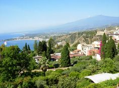 Taormina, Sicily: on a clear day you can see the top of Mount Etna and the bay. Magnificent!