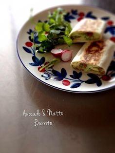アボカドと納豆のブリート。|レシピブログ
