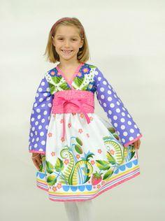 Girl's+Kimono+Dress+Summer+Dress+Girls+by+HarmonyGirlsClothing,+$50.00