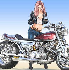 【東本昌平RIDE 99】鉄魂〜バイク乗りの心を熱くさせ、捉えて離さない〜Vol.5 KAWASAKI「900SUPER4[Z1]」(1972) - LAWRENCE - Motorcycle x Cars + α = Your Life.
