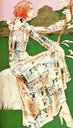 1970's fashion illustrations 70s Fashion, Fashion Art, Vintage Fashion, Fashion Design, Fashion Sketchbook, Fashion Sketches, Fashion Drawings, Fashion Illustration Vintage, Fashion Illustrations