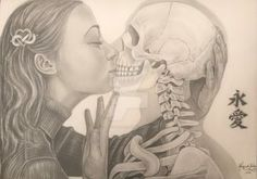 Eternal Love by on DeviantArt Animal Drawings, Pencil Drawings, Art Drawings, Eternal Love, Drawing Clothes, Beautiful Drawings, Drawing People, Disney Love, Fashion Sketches
