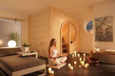 Foto: B+S Finnland Sauna Private Sauna, Wellness Spa, Home Spa, Bad, Oversized Mirror, Meditation, House, Furniture, Error