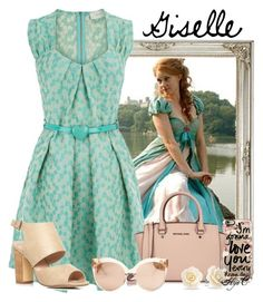 Giselle - Disney's Enchanted by rubytyra on Polyvore featuring polyvore fashion style Dorothy Perkins Michael Kors Bling Jewelry Linda Farrow Casetify clothing disney disneybound enchanted Giselle disneybounding