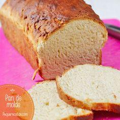 Receta fácil de pan de molde Biscuit Bread, Pan Bread, Mexican Bread, Croissants, Bread Machine Recipes, Our Daily Bread, Bread And Pastries, Artisan Bread, Sin Gluten