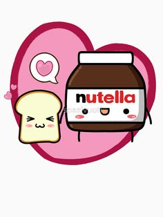 Kawaii Nutella and sandwich bread Throw Pillows Cute Kawaii Drawings, Kawaii Doodles, Kawaii Chibi, Kawaii Art, Emoji Tumblr Png, Stress Relief Toys, Step By Step Drawing, Cute Images, Cute Food