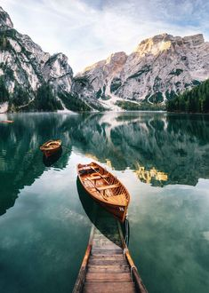 Read the full title Dolomites Lake Boat Print, Lake Braies Wall Art, Mountain Lake Print