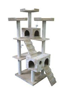 """This Brand New 73"""" Cat Condo Tree Scratching Post is the best you can get in the market and at the same time will not cost you a fortune.    Easy to follow step by step instruction"""