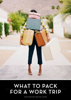 Pack only the essentials for your next work trip // #AskAStylist #Experts #Fashion