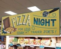 Hand painted 6 ft. Pizza Night sign, Westwood, CA  by L Star Murals www.Lstarmurals.com