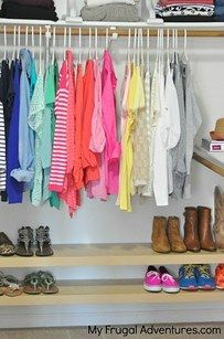 Use floating shelves to organize kiddos' closets. | 31 Brilliant Ikea Hacks Every Parent Should Know