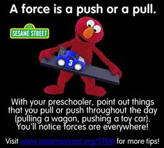 Explore Force with your preschoolers! Check out more free Science, Technology, Engineering, and Math resources for preschoolers at www.sesamestreet.org/STEM!