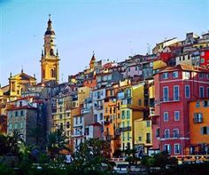 Old Town Menton, French Riviera.