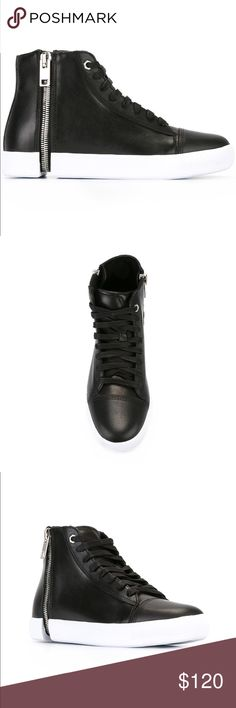 Diesel Zipped Hi-Tops Sneaker Worn once. In perfect condition. Diesel Shoes Sneakers