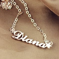Rose Gold Carrie Style Name Necklace with Star