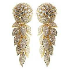GABRIELLE'S AMAZING FANTASY CLOSET   Cartier Magnificent Diamond/Yellow Gold Day Night Earrings   You can see the Rest of the Outfit and my Remarks on this board.  -  Gabrielle