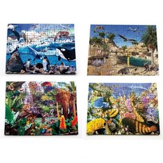A set of 4 superbly drawn #illustrations of #fascinating #environments and their inhabitants. Includes: coral reef, desert, Polar regions and rainforest, each with comprehensive teachers notes about the #habitat and the #animals featured on the puzzle. Each Habitats Jigsaw has 24 pieces and is hand made in the UK from durable 6mm MDF.  Size 40 x 30 cm.  #wooden #handmade #British #schools #puzzle #puzzles #jigsaw #teachers #education #familybusiness #smallbusiness #toys #games #ideas… Wooden Table And Chairs, Outdoor Tables And Chairs, Glitter Furniture, Outdoor Mirror, Yarn Painting, Painting Accessories, Paint Types, Early Math, Art Storage