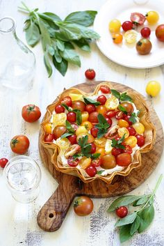Diet Club, Vegetarian Pie, Savory Tart, Cooking Recipes, Healthy Recipes, Summer Recipes, Food Inspiration, Love Food, Entrees
