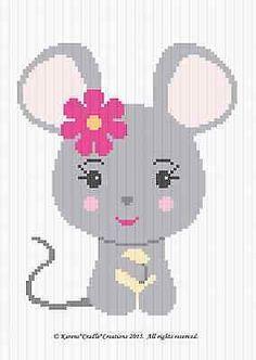 узоры для вязания крючком-мыши Baby Girl graph/chart АФГАНСКИЙ узор * легко *
