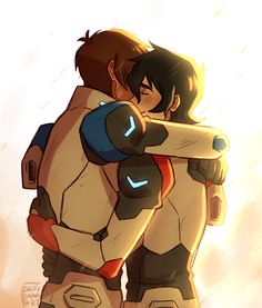 "Request: ""Keith and Lance 'we just survived some shit, here's another body to hug' hug. I just like the idea of the two being friends, no romantic attatchment needed, you know? I think Keith needs some of that"" - by duckydrawsart"