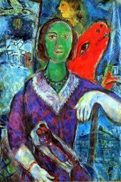Marc Chagall Self Portrait | Marc Chagall. Portrait of Vava (Portrait de Vava). 1966. Oil on canvas ..
