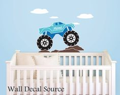 Monster Truck Wall Decal  Vinyl Wall Decal  by WallDecalSource, $35.00