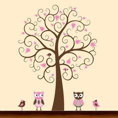 Cute Owls - Vinyl Wall Art Sticker Decal