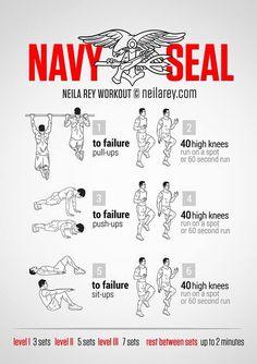 Navy Seal Exercise Workout Plan - ExtraVital Fasion