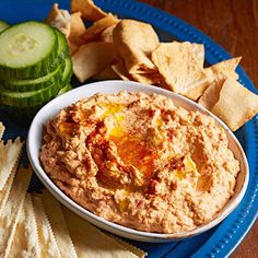 Roasted Red Pepper-Chipotle Hummus Hummus is easier than you might think: Just throw the ingredients in the food processor. Find canned smoky chipotle peppers in the Mexican aisle of large supermarkets. Quick Dinner Recipes, Dip Recipes, Quick Easy Meals, Appetizer Recipes, Baking Recipes, Snack Recipes, Healthy Recipes, Appetizers, Easy Recipes