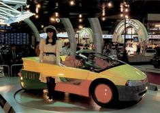The 1987 #Subaru Jo-Car #Concept at the Tokyo Motor Show. Just look at those colors, that geometry, that incomplete passenger door! #jocar