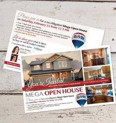 Open House Postcard Template Best Of Real Estate Postcard Template 20 Free Psd Vector Eps Postcard Layout, Postcard Template, Postcard Design, Card Templates, Marketing Postcard, Open House Signs, Real Estate Postcards, Open House Invitation, Free Wedding Invitation Templates