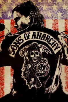 Sons of Anarchy Logo Flag TV Poster Print from AllPosters.com