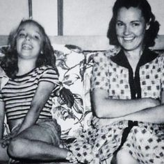 Young little Sharon and mom Doris