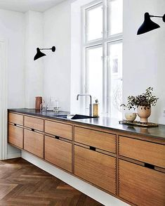 60 Contemporary Wooden Kitchen Cabinets For Home Inspiration. Choosing the perfect wooden kitchen cabinets for your home is not as simple as it might appear. While the choices are limited, . Wooden Kitchen Cabinets, Kitchen Furniture, Kitchen Decor, Kitchen Ideas, Kitchen Inspiration, Kitchen Modern, Furniture Stores, Vintage Kitchen, Minimalist Kitchen Cabinets