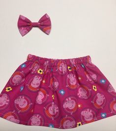 Peppa the pig skirt by ITTIBITTIEACCESORIES on Etsy