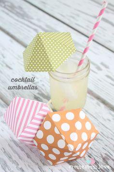 Create your own Cocktail Umbrellas!  via createcraftlove.com