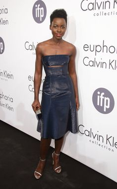Lupita Nyong'o in Calvin Klein at the Women in Film event.