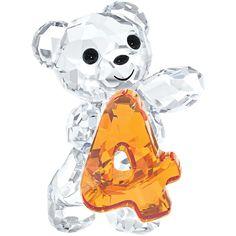 Swarovski Crystal Kris Bear Number Four Figurine 5108726