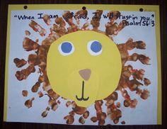 toddler church crafts | Daniel and the Lions' Den Craft | children's church - preschool