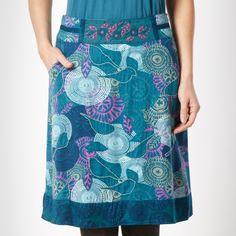 68f9721b4bf7 Mantaray Turquoise embroidered bird skirt- at Debenhams.ie Mantaray  Clothing