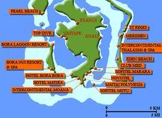 Map Of Bora Bora Resorts
