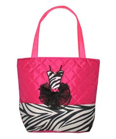 Love this Hot Pink Zebra Tote Bag by All For Dance on #zulily! #zulilyfinds