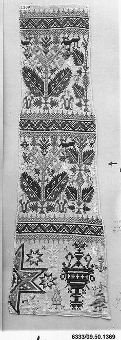 Part of a door from a bed tent - century - Greek Islands, Kos Bed Tent, Vintage Textiles, Greek Islands, Soft Furnishings, Folk Art, Tatting, Bohemian Rug, Cross Stitch, Embroidery