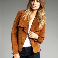 """BB Dakota brown suede jacket. Small Soft camel color suede side zip up jacket by BB Dakota. Size small. Laying flat... Underarm-underarm-19""""  Length-22""""  sleeve length-24"""". Great condition. BB Dakota Jackets & Coats"""